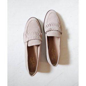 Anthropologie Seychelles Ruffle Loafers